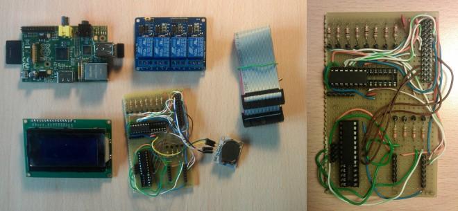 Componenti e prototipo della scheda di controllo