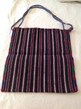 Handwoven pure wool lunch tote from Greece