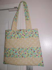 Ivory quilted tote