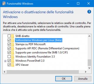 Sottosistema Linux