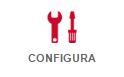La voce Configura è l'ultima tra le tre schede possibili: Home, Preferenze, Configura