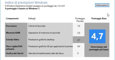 Come avere l'indice di prestazioni in Windows 8.1 e 10