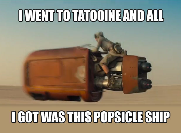 Star Wars Tatooine Popsicle Ship