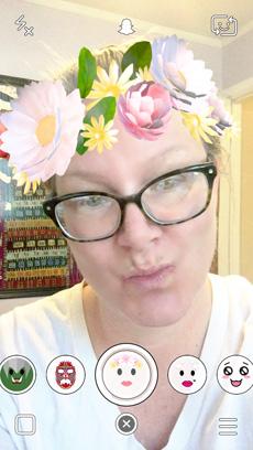 Snapchat Wreath Lens