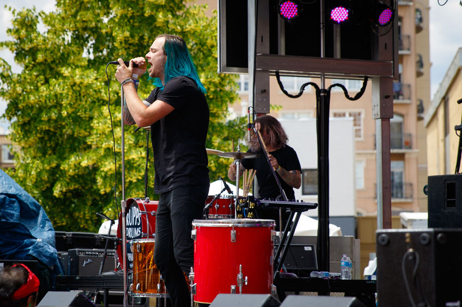 Denver band 888 performs on the Westword Music Showcase main stage.