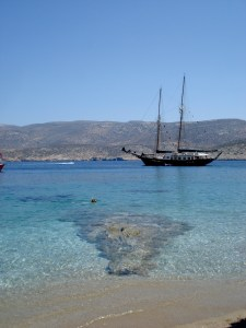 beach at Gramvoussa in Amorgos