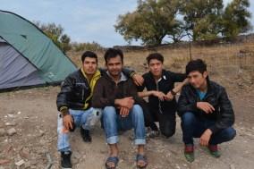 Hazara Afghans in camp