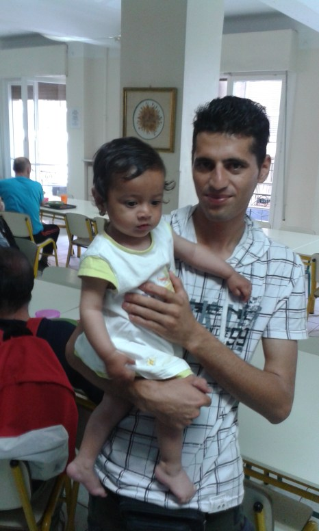 A Syrian man and daughter
