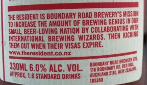 Resident beer blurb