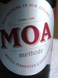 Not 'methode champenoise' but 'moa methode' - close enough.