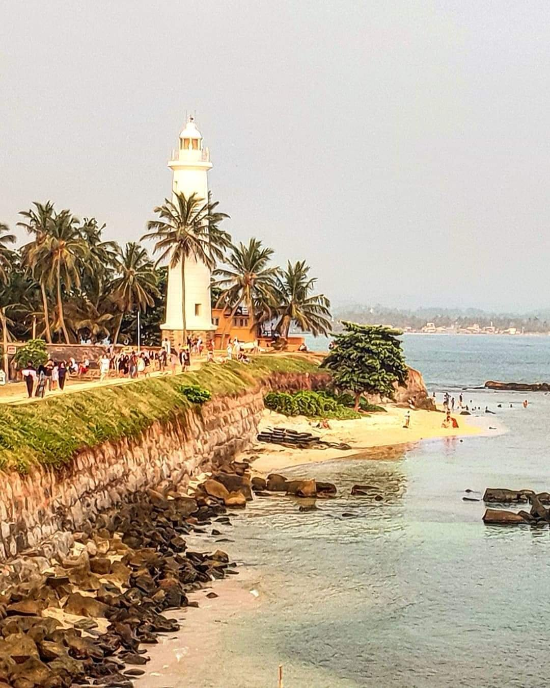 View of the Galle lighthouse in Sri Lanka