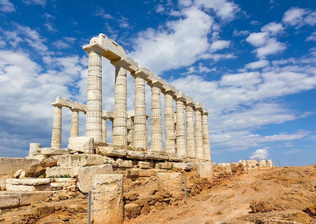 Temple of Poseidon - Cape Sounion Attica, Greece