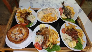 I had the moussaka - it was huge! Another Lefkada feast.