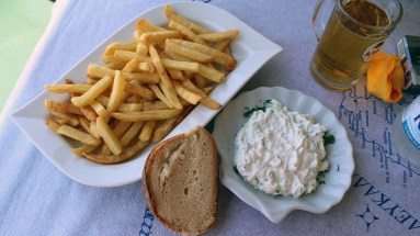 All my restaurant meals had to start with homemade fries and thick tzaziki.
