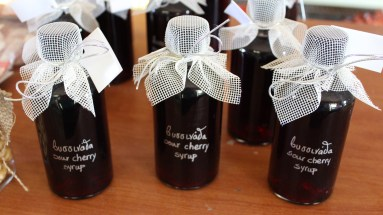 Sour cherry syrup.