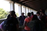 Dr. Scahill showed us models in the Stoa
