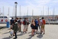 Down at the old harbor at Chania