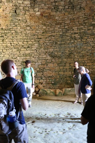 Sherry Stocker gave us a tour of the tholos tomb and active excavations