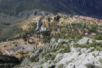 Delphi from the Top of Parnassos