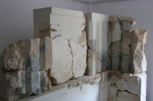 Painted fragments of the 6th c temple in the museum
