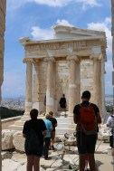We were allowed to go onto the bastion of the Athena Nike Temple
