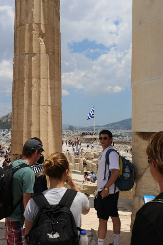 A view to the east from the Parthenon