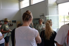 Our tour of Nemea started in the museum with Liz
