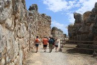 The approach to the gate at Tiryns