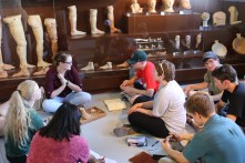 Katie Petrole showed us terracotta dedications to Asklepios in the Corinth Museum