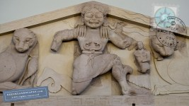 Gorgon pediment in Corfu museum