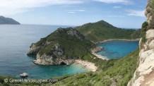 View of the Porto Timoni beach