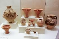 Several ceramic vessels on exhibit