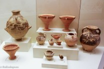 Several ceramic vessels on exhibit
