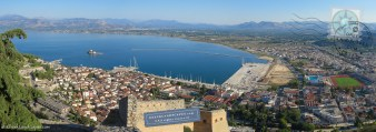 Nafplio panoramic view with the new and old towns