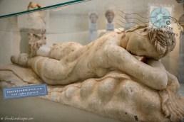 Marble statue of sleeping Maenad
