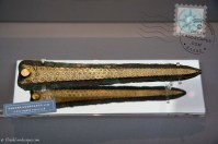 Mycenaean bronze dager with gold inlay