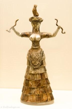 Minoan Snake Goddess statuette
