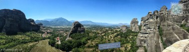 View of Meteora, Greece.