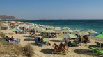 Plaka beach is very long. Only the northern end, which is closer to the town is busy. Naxos island, Greece