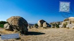 Round granite rocks