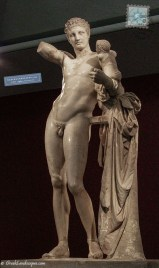 Marble statue of Hermes of Praxiteles