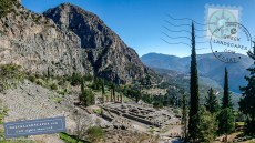 View of Delphi archaeological site
