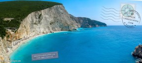 Panorama of Porto Katsiki beach