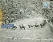 Horsemen in ancient stadium