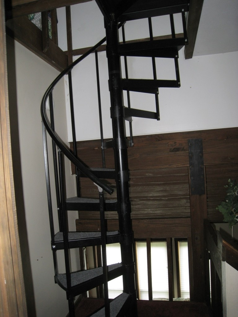 One Bedroom Dionisian 17B With Spiral Stairs To The Loft Greek | Spiral Staircase To Attic Bedroom | Loft Bedroom | Tight Space | Design | Before And After | Attic Ladder