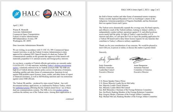 Επιστολή του Ελληνοαμερικανικού Συμβουλίου Ηγεσίας στην Τουρκία