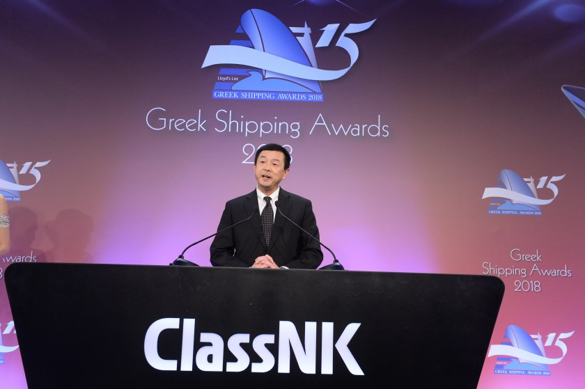 Seiichi Gyobu, Corporate Officer, Regional Manager of Eastern Mediterranean Sea and Northern Black Sea for Event Sponsor ClassNK opened the event with a few words to the international audience.