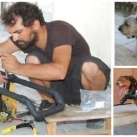 Ένας υδραυλικός κάνει ανάπηρα σκυλάκια να ξαναπερπατήσουν!