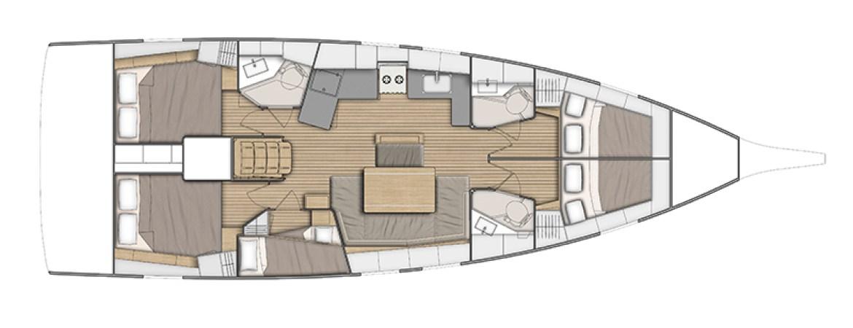 GreekSun Sailing Yachts Beneteau Oceanis 46.1 layout