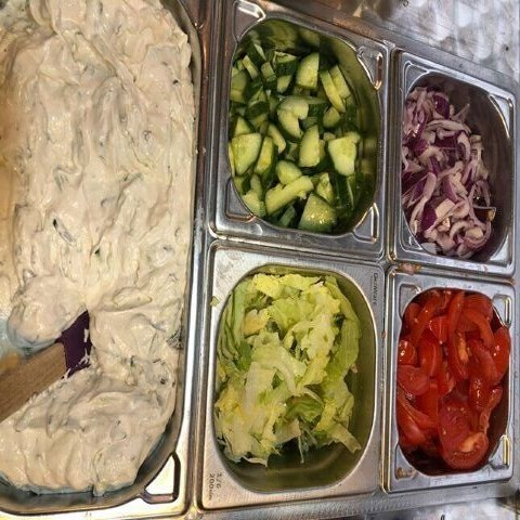 Greek Wraps Catering Hire fresh greek wraps served - Sheffield catering services